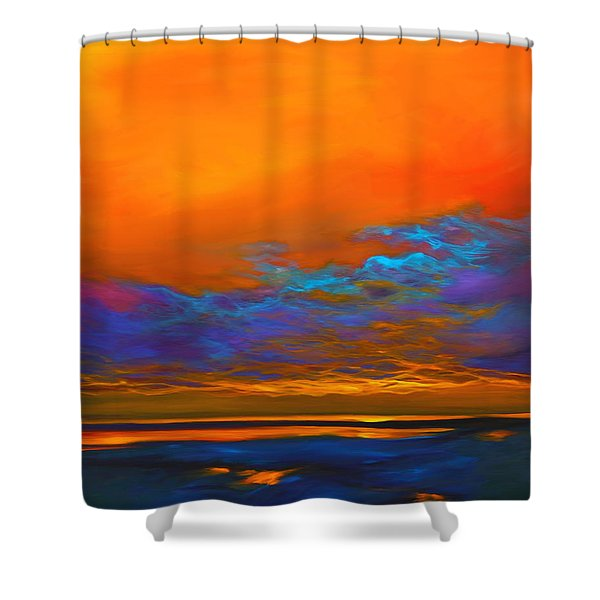 Dance of Angels Shower Curtain by Savlen Art