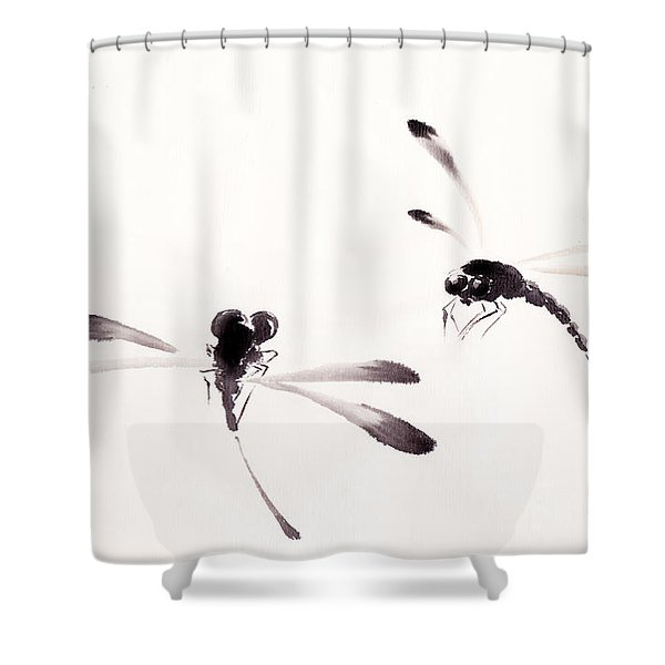 Dance of the Dragonflies Shower Curtain by Oiyee  At Oystudio