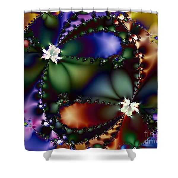Dance Of The Gypsy Moths On A Moon Lit Night 20130510 Shower Curtain by Wingsdomain Art and Photography