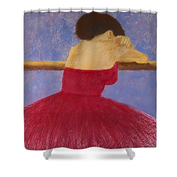 Dancer in the Red Dress Shower Curtain by David Patterson