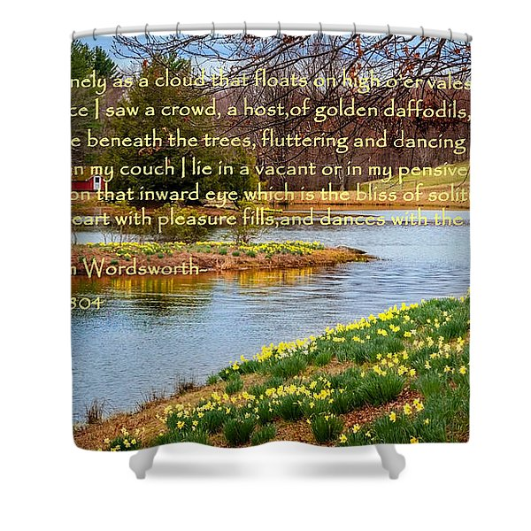 Dances With The Daffodils Shower Curtain by Bill  Wakeley