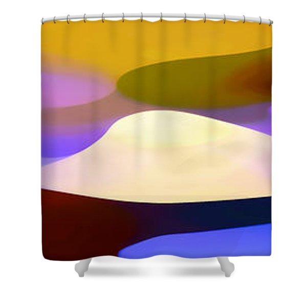 Dappled Light Panoramic 4 Shower Curtain by Amy Vangsgard