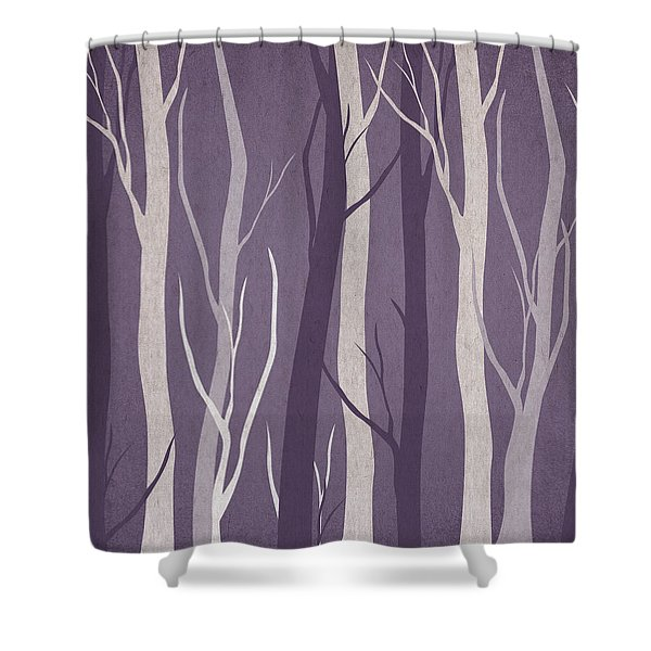 Dark Forest Shower Curtain by Aged Pixel