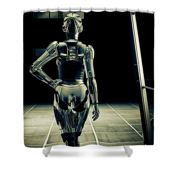 Dark Hall Shower Curtain by Bob Orsillo