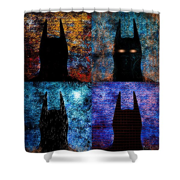 Dark Knight Number 5 Shower Curtain by Bob Orsillo