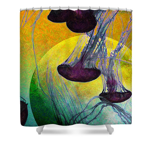 Dark Side Of The Moon 5D24939 Painterly m111 Long Shower Curtain by Wingsdomain Art and Photography