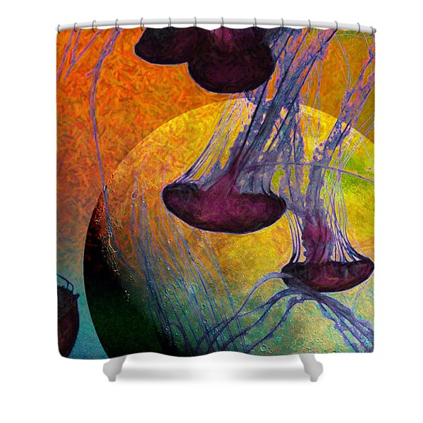 Dark Side Of The Moon 5D24939 Painterly m56 Long Shower Curtain by Wingsdomain Art and Photography