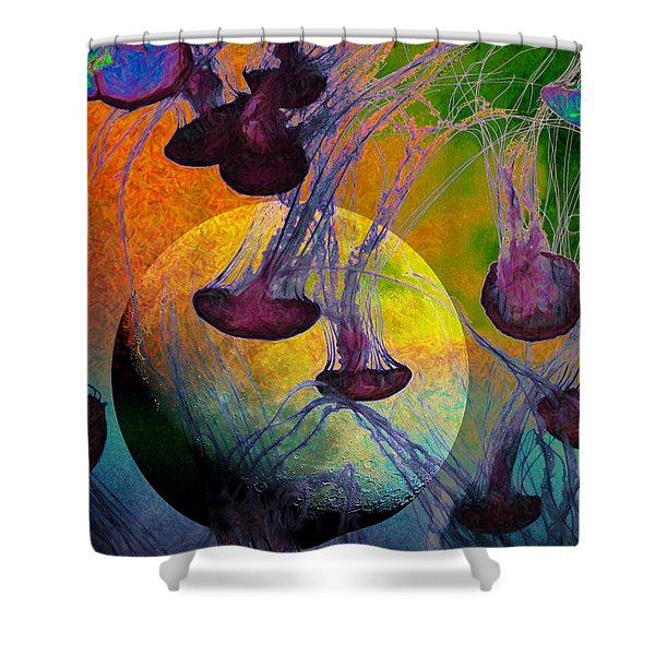 Dark Side Of The Moon 5d24939 Painterly M56 Shower Curtain by Wingsdomain Art and Photography