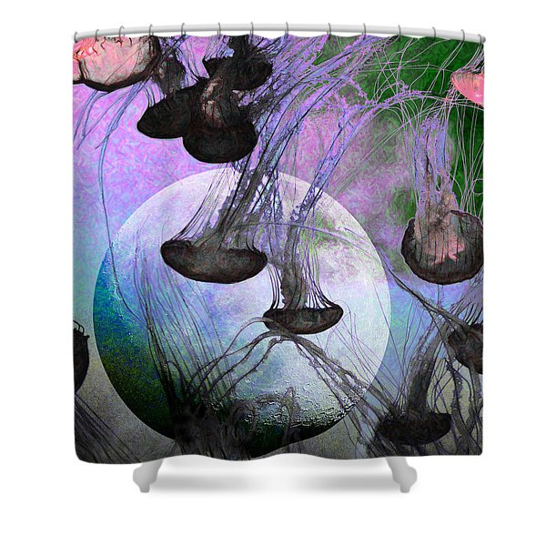 Dark Side Of The Moon 5D24939 Painterly p180 Shower Curtain by Wingsdomain Art and Photography