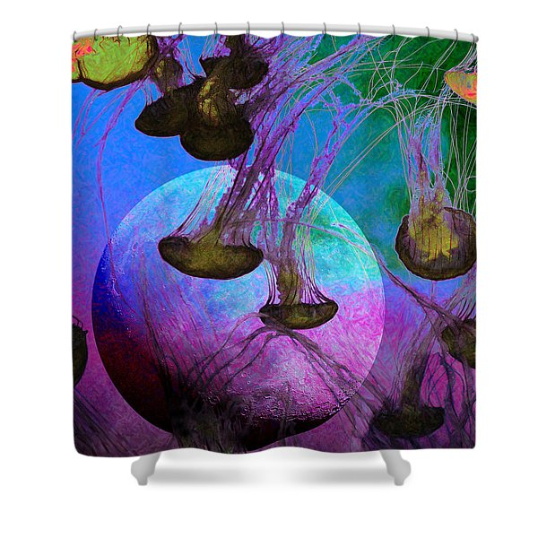 Dark Side Of The Moon 5D24939 Painterly p88 Shower Curtain by Wingsdomain Art and Photography