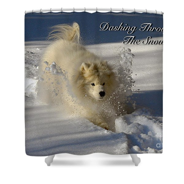 Dashing Through The Snow Shower Curtain by Lois Bryan