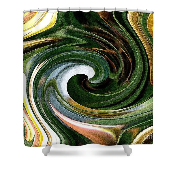 Dasystemon Tarda Twirls Shower Curtain by J McCombie