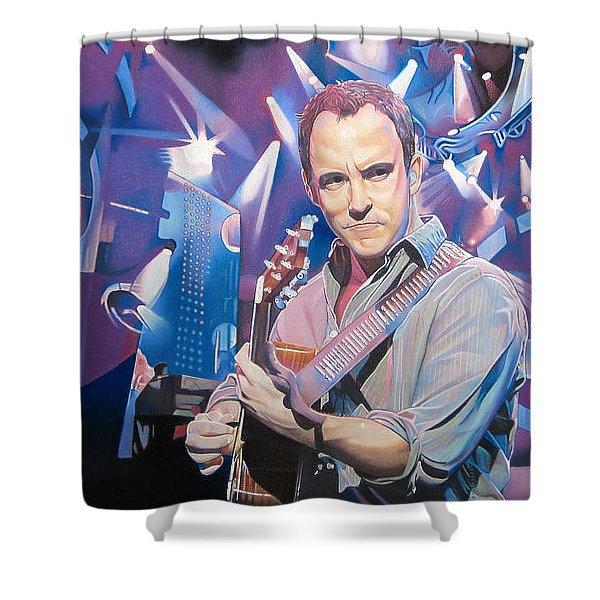 Dave Matthews and 2007 Lights Shower Curtain by Joshua Morton