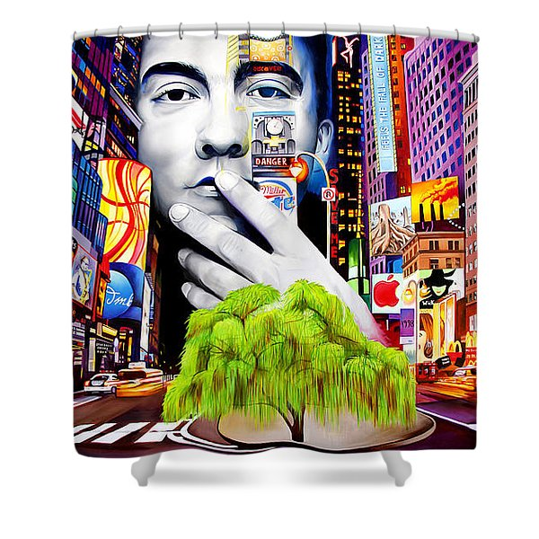 Dave Matthews Dreaming Tree Shower Curtain by Joshua Morton