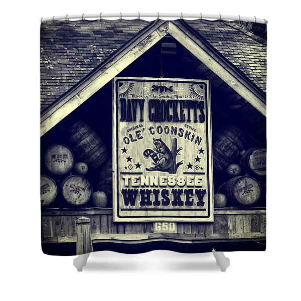 Davy Crocketts Tennessee Whiskey Shower Curtain by Dan Sproul