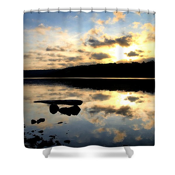 Dawn Breaks Shower Curtain by Karol  Livote