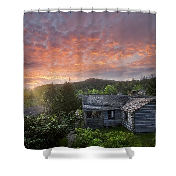 Dawn Over LeConte Shower Curtain by Debra and Dave Vanderlaan