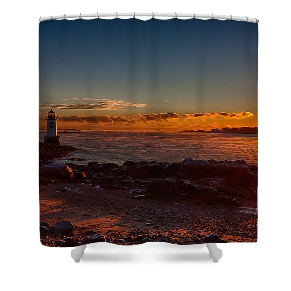 Dawn rises Shower Curtain by Jeff Folger