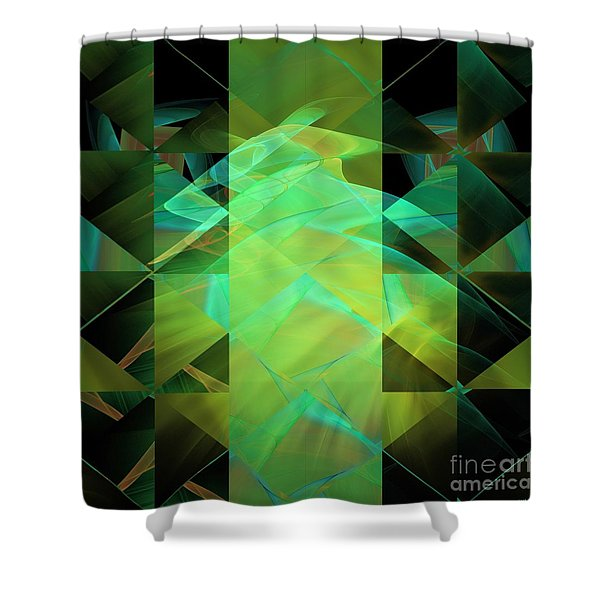 Dazzle Dunes Shower Curtain by Elizabeth McTaggart