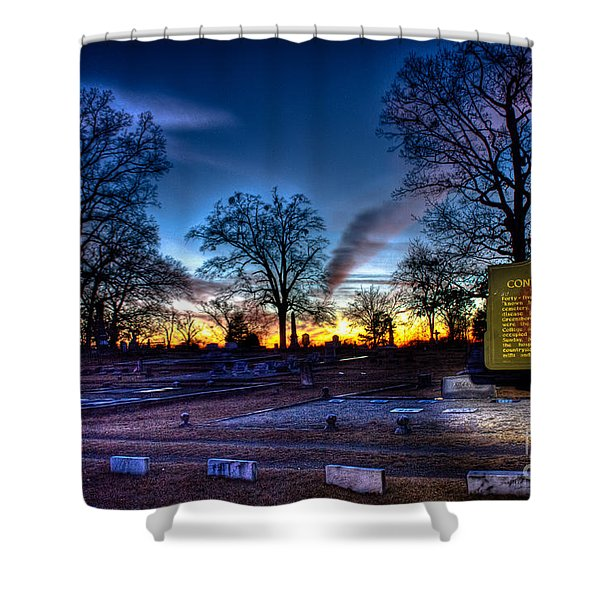 Deadly Silence    Shower Curtain by Reid Callaway