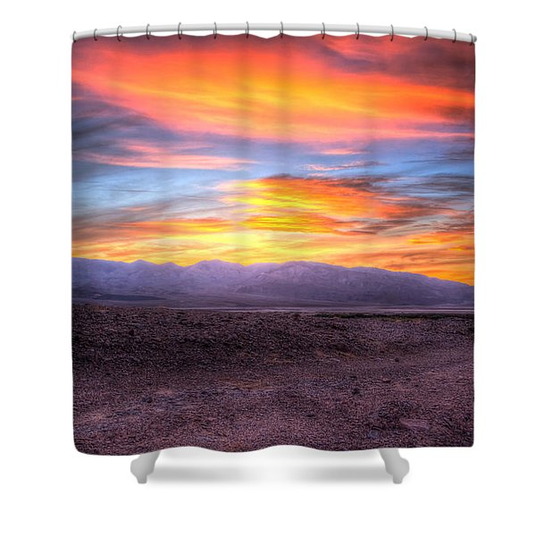 Death Valley Sunset Shower Curtain by Heidi Smith