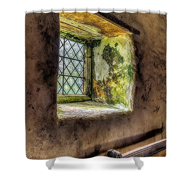 Decay Shower Curtain by Adrian Evans