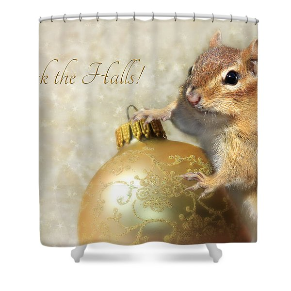 Deck The Halls Shower Curtain by Lori Deiter