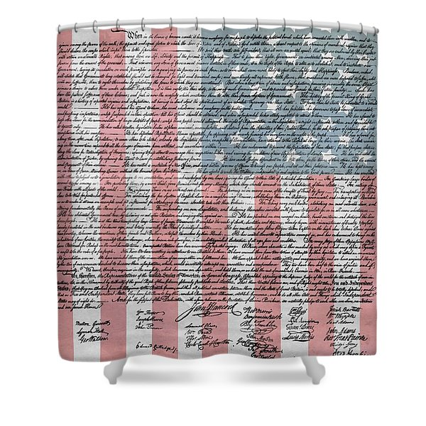 Declaration Of Independence Shower Curtain by Dan Sproul