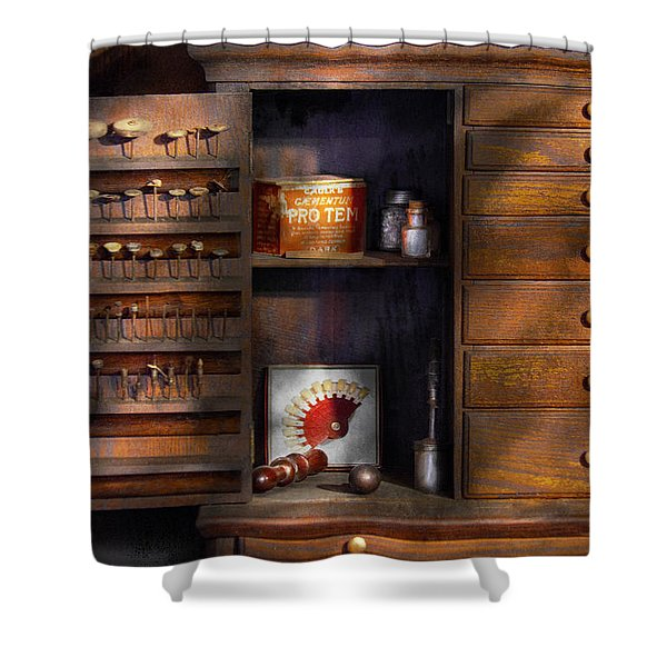 Dentist - Dental Burrs  Shower Curtain by Mike Savad