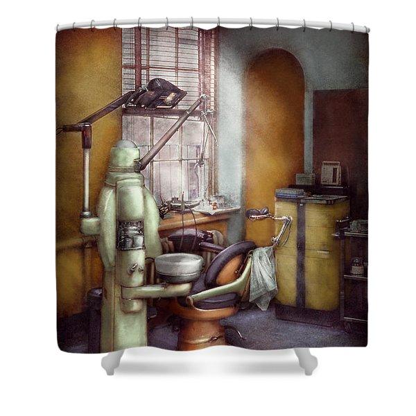 Dentist - Dental Office Circa 1940's Shower Curtain by Mike Savad