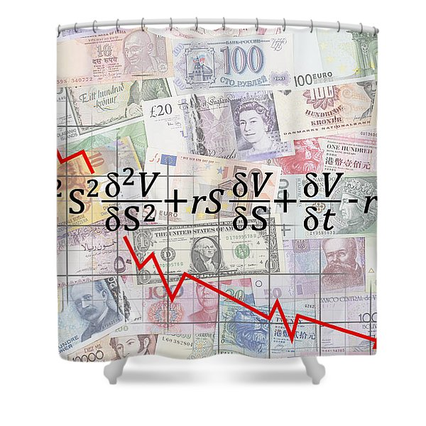 DERIVATIVES FINANCIAL DEBACLE - BLACK SCHOLES EQUATION Shower Curtain by Daniel Hagerman