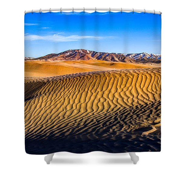 Desert Lines Shower Curtain by Chad Dutson