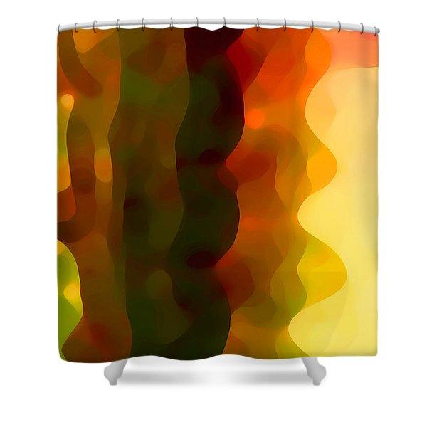 Desert Pattern 3 Shower Curtain by Amy Vangsgard