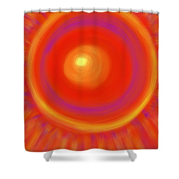 Desert Sunburst Shower Curtain by Daina White