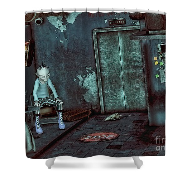 Desolation Shower Curtain by Jutta Maria Pusl