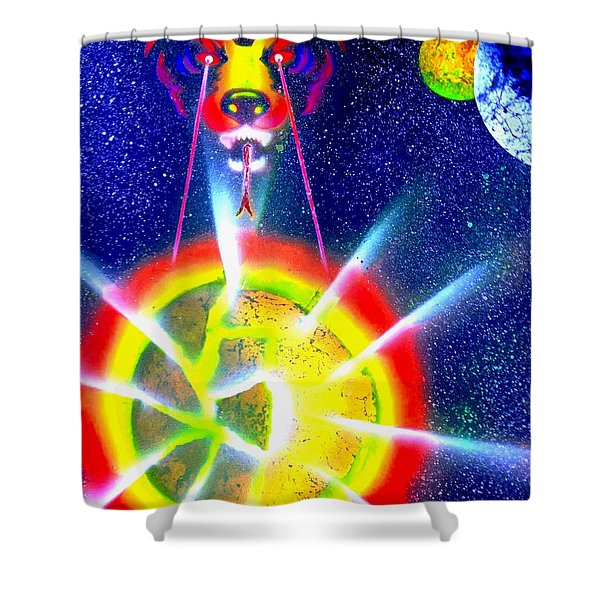 Destroyer Shower Curtain by Drew Goehring