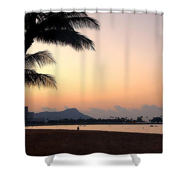 Diamond Head Sunrise - Honolulu Hawaii Shower Curtain by Brian Harig