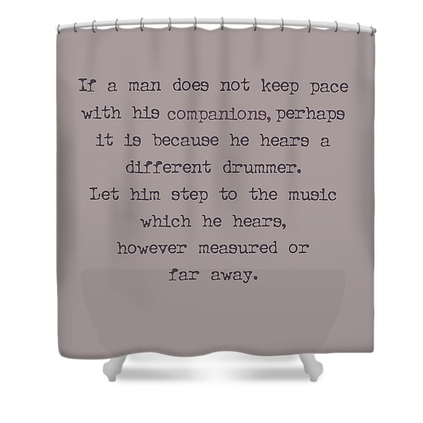Different Drummer Shower Curtain by Nomad Art And  Design