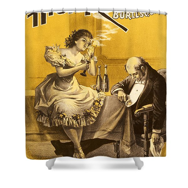 Dining A High Roller Girl After The Show Shower Curtain by Aged Pixel