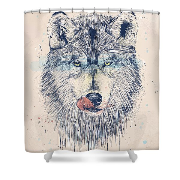 Dinner time Shower Curtain by Balazs Solti