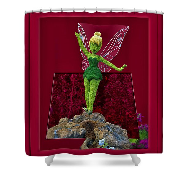 Disney Floral Tinker Bell 02 Shower Curtain by Thomas Woolworth
