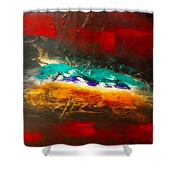 Divine Chaos Shower Curtain by Carolyn Repka