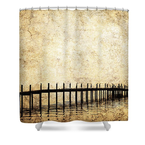 Dock 2 Shower Curtain by Skip Nall