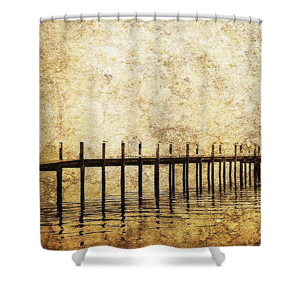 Dock Shower Curtain by Skip Nall