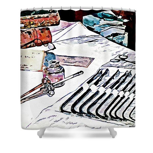 Doctor - Medical Instruments Shower Curtain by Susan Savad