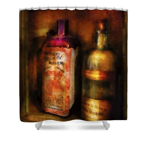 Doctor - Microbe Killer Shower Curtain by Mike Savad