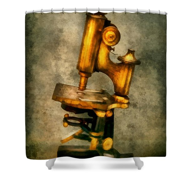 Doctor - Microscope - The start of modern science Shower Curtain by Mike Savad