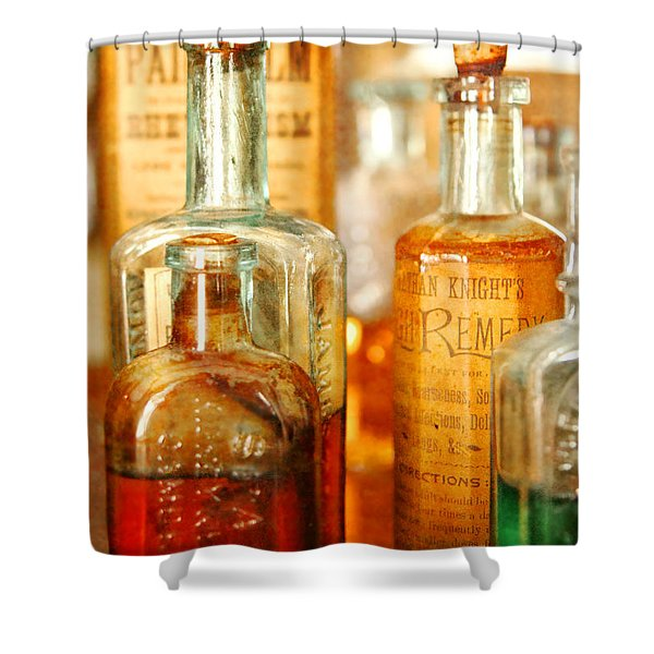 Doctor - Remedies for Hoarseness  Shower Curtain by Mike Savad