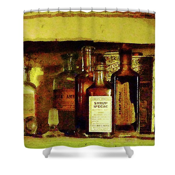 Doctor - Syrup of Ipecac Shower Curtain by Susan Savad