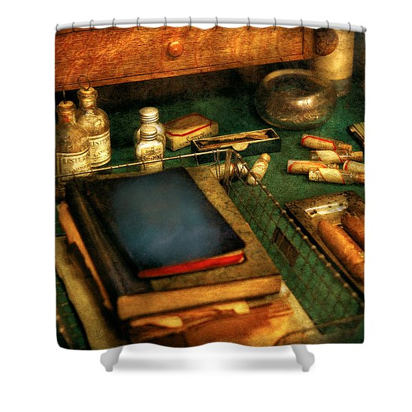 Doctor - The Busy Doctor Shower Curtain by Mike Savad